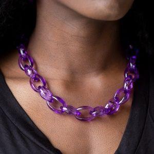 Ice Queen - Purple Necklace & Earrings